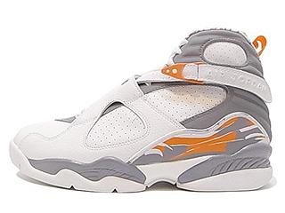 AIR JORDAN 8 RETRO white/stealth-orange blaze-silver