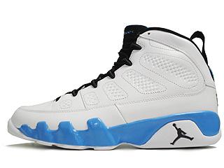 AIR JORDAN 9 RETRO white/black-university blue
