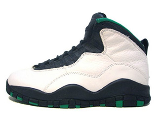 AIR JORDAN 10 (OG) seattle white/black-kelly-yellow gold