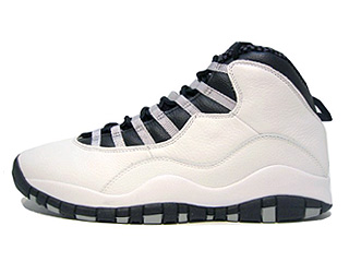 AIR JORDAN 10 RETRO white/black-light steel grey-varsity red