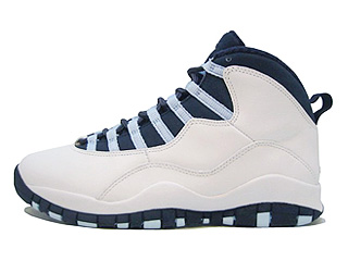 AIR JORDAN 10 RETRO white/obsidian-ice blue-v red