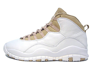 AIR JORDAN 10 RETRO white/linen-university blue