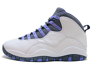 WMNS AIR JORDAN 10 RETRO white/medium violet-light graphite