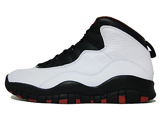 AIR JORDAN 10 RETRO chicago white/varsity red-black