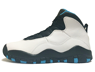 AIR JORDAN RETRO 10 POWDER BLUE white/dk powder blue-black