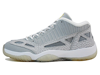 AIR JORDAN 11 RETRO LOW silver/zest-silver
