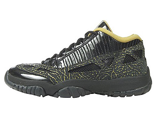 WMNS AIR JORDAN 11 RETRO LOW black/metallic gold