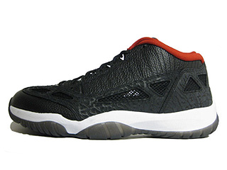 AIR JORDAN 11 RETRO LOW black/varsity red-white