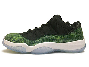 AIR JORDAN 11 RETRO LOW SNAKE black/nightshade-white-vlt ice