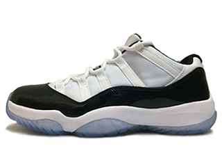 AIR JORDAN 11 LOW CONCORD white/black