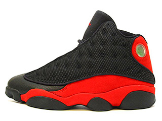 AIR JORDAN RETRO 13 black/true red
