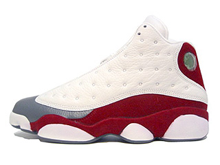 AIR JORDAN RETRO 13 white/team red-flint grey