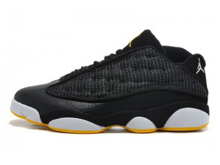 AIR JORDAN 13 RETRO LOW black/metallic silver-white-varsity maize