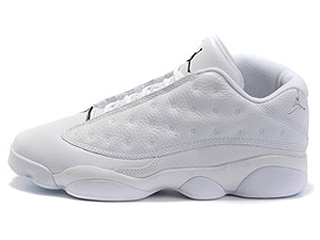 AIR JORDAN 13 RETRO LOW white/metallic silver