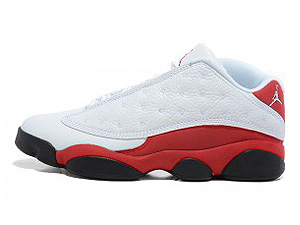 AIR JORDAN 13 RETRO LOW white/metallic silver-varsity red-black