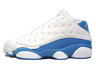 WMNS AIR JORDAN 13 RETRO LOW white/metallic silver-university blue-real pink