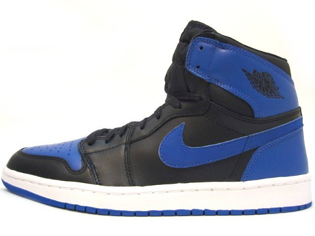 AIR JORDAN 1 RETRO ROYAL 2001 black/royal blue