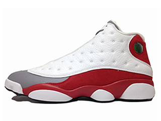 AIR JORDAN 13 RETRO GREY TOE white/black-true red-cmnt grey