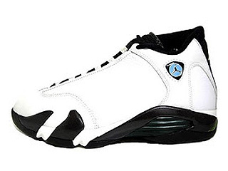 AIR JORDAN 14 (OG) white/black-oxide green