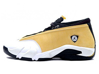 AIR JORDAN 14 LOW (OG) light ginger/black-white