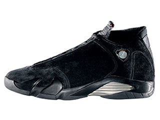AIR JORDAN 14 RETRO black/light graphite-metallic silver-redwood