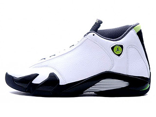 AIR JORDAN 14 RETRO white/chartreuse-black