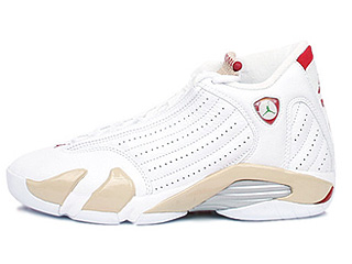 WMNS AIR JORDAN 14 RETRO white/varsity red-linen-classic green