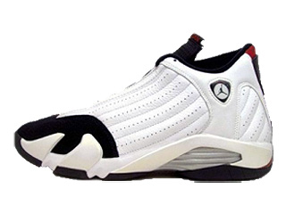 AIR JORDAN 14 RETRO white/black-varsity red-metallic silver