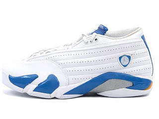 AIR JORDAN 14 RETRO LOW white/pacific blue-mts-brt cer