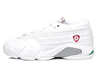 WMNS AIR JORDAN 14 RETRO LOW white/cerise-classic green