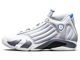 AIR JORDAN 14 RETRO SPORT BLUE wolf grey/sprt blue-cl gry-wht