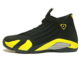 AIR JORDAN 14 RETRO THUNDER black/vibrant yellow-white