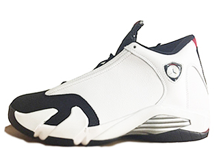 AIR JORDAN 14 RETRO BLACK TOE white/blck-vrsty rd mtllc slvr