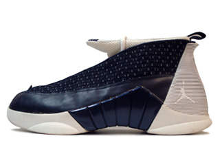 AIR JORDAN 15 (OG) obsidian/white-metallic silver