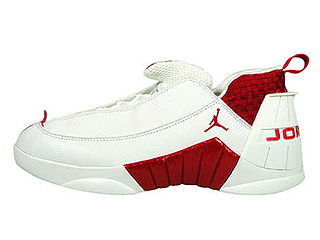 AIR JORDAN 15 LOW white/deep red