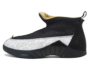AIR JORDAN 15 RETRO LS laser black/metallic gold-white