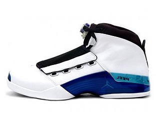 AIR JORDAN 17 white/college blue-black