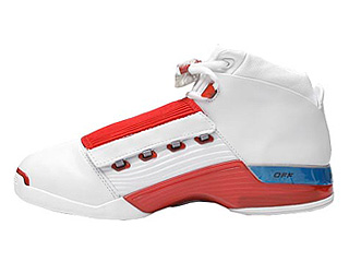 AIR JORDAN 17 white/varsity red-charcoal