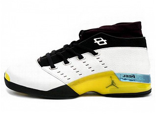 AIR JORDAN 17 LOW white/lightning-black-chrome