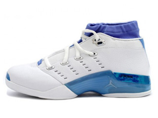 AIR JORDAN 17 LOW white/university blue-black-chrome