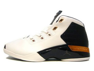AIR JORDAN 17 PLUS white/black-metallic copper-sport royal