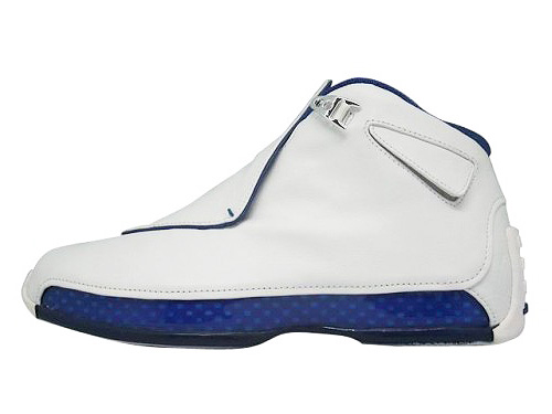 AIR JORDAN 18 white/metallic silver-sport royal