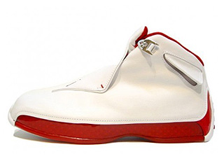 AIR JORDAN 18 white/varsity red