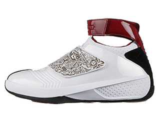 AIR JORDAN 20 white/varsity red-black