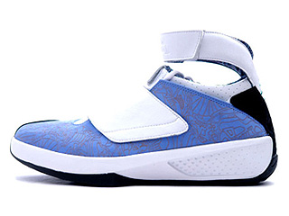 AIR JORDAN 20 westcoast university blue/white-black