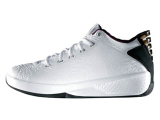 AIR JORDAN 20 3/4 white/metallic silver-dark garnet