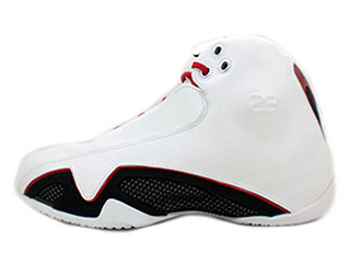 AIR JORDAN 21 white/varsity red-metallic silver