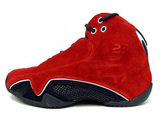 AIR JORDAN 21 varsity red/metallic silver-black