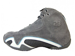AIR JORDAN 21 light graphite/metallic silver-white-university Blue