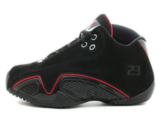 AIR JORDAN 21 LOW black/metalic silver-varsity red